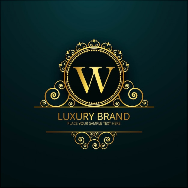 luxury letter w logo vector free download