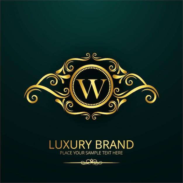 Логотип luxury letter w Бесплатные векторы