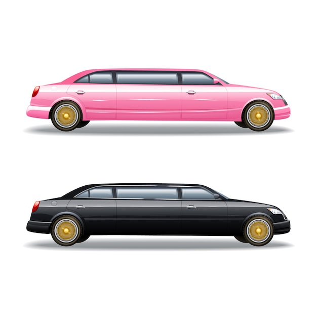 Luxury limousine car Free Vector