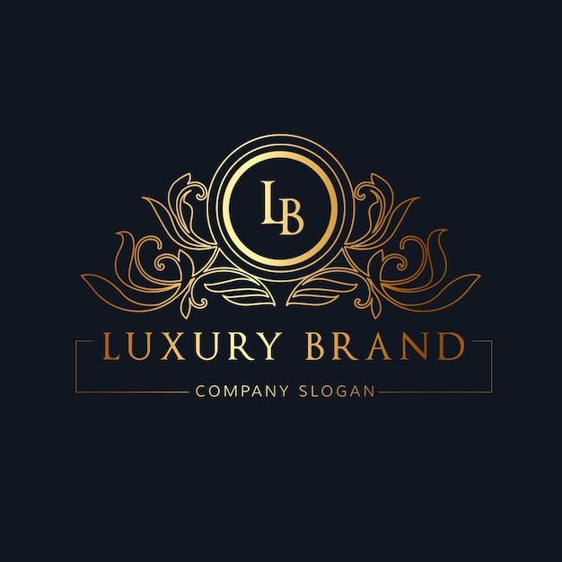 Luxury logo.  crests logo. logo design for hotel ,resort, restaurant, real estate ,spa, fashion brand identity Premium Vector