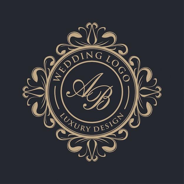 Luxury logo design Premium Vector