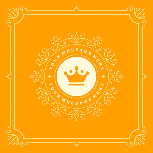 Luxury logo flourishes calligraphic elegant ornament lines Premium Vector