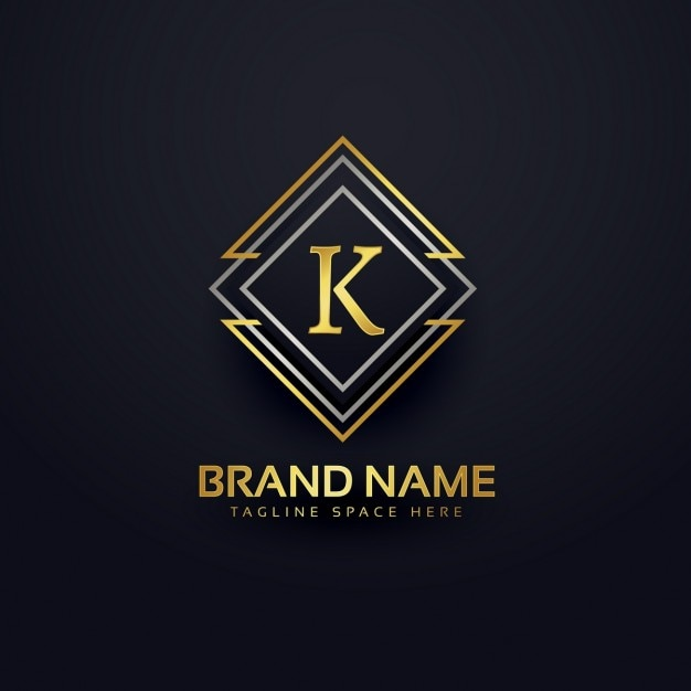 Luxury logo for letter k Free Vector