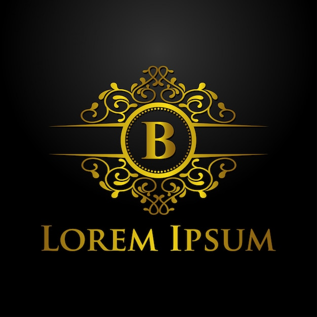 Luxury logo template Premium Vector