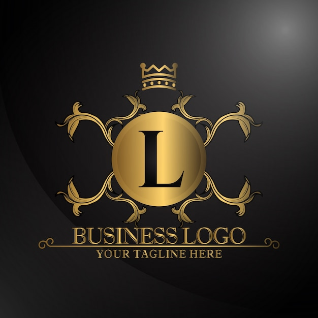 Luxury Logo With Gold Color Vector Premium Download