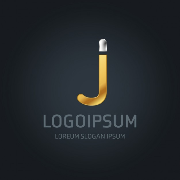 Luxury logo with the letter j Free Vector