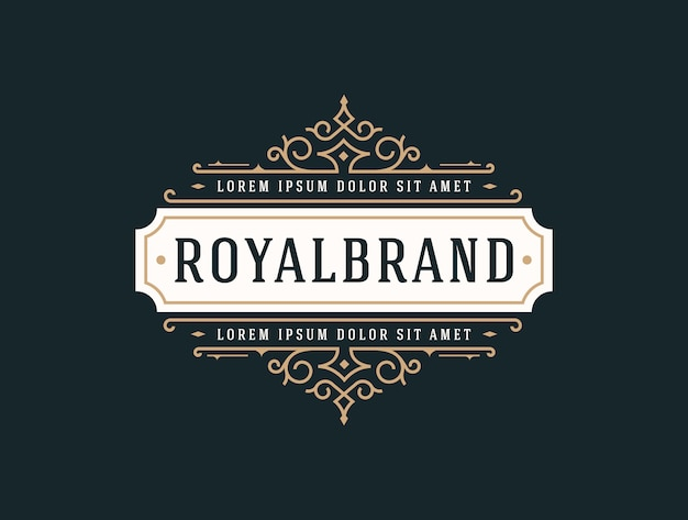 Элегантный шаблон luxury logo Premium векторы