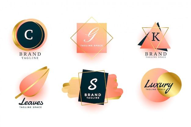 Luxury logos or wedding monograms collection design Free Vector
