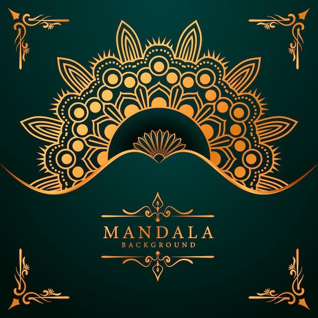 Luxury mandala background for book cover wedding invitation Premium Vector