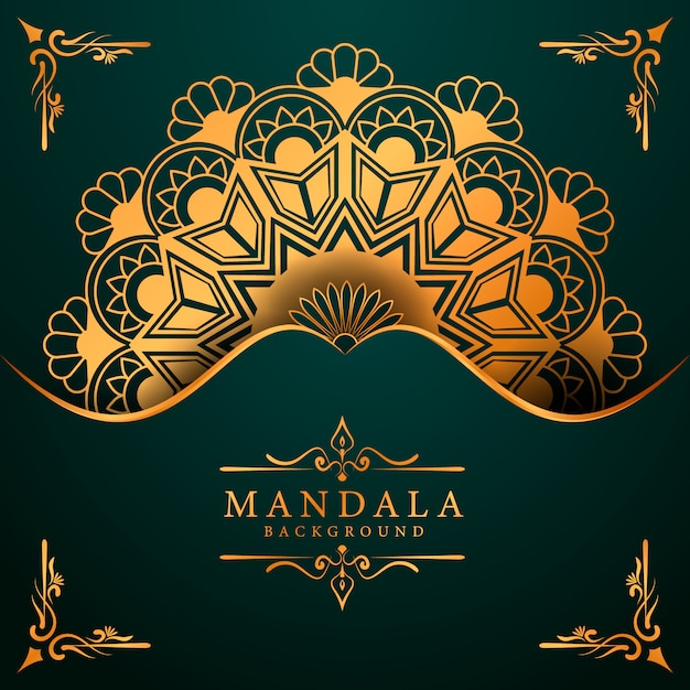 Luxury mandala background for book cover wedding invitation Premium Vector