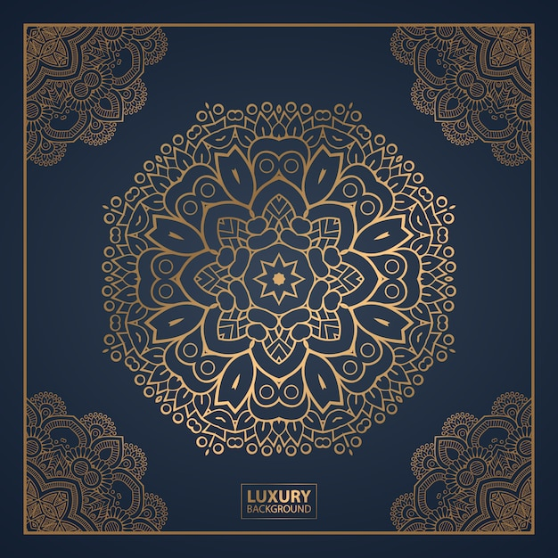 Luxury mandala background for book cover, wedding invitation. Premium Vector