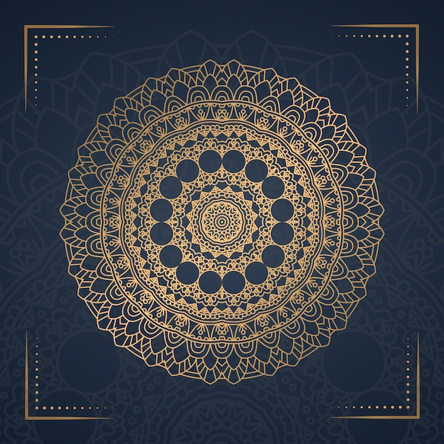 Luxury mandala background for book cover,wedding invitation Premium Vector