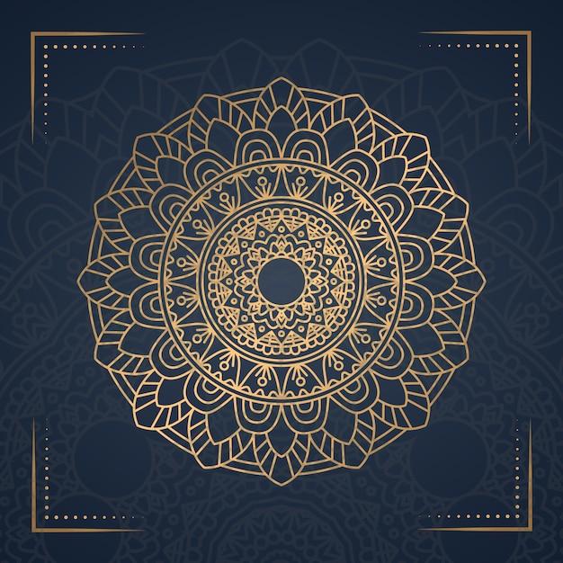 Luxury mandala background for book cover Premium Vector