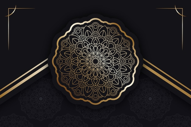 Luxury mandala background with details Free Vector