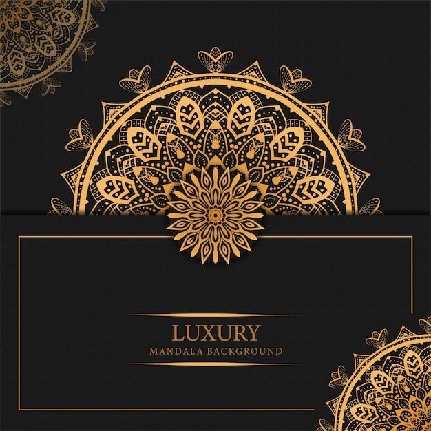 Luxury mandala background with golden arabesque pattern arabic islamic design Premium Vector