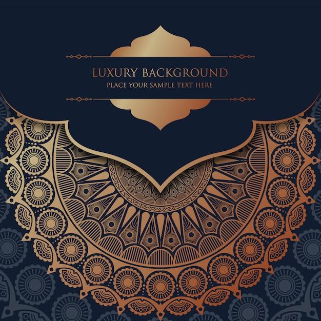 Luxury mandala background with golden arabesque pattern arabic islamic east style Premium Vector