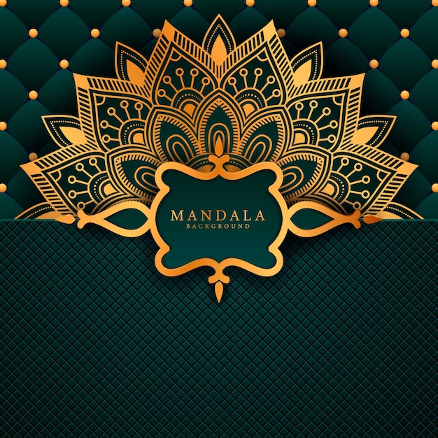 Luxury mandala background with golden arabesque pattern a Premium Vector