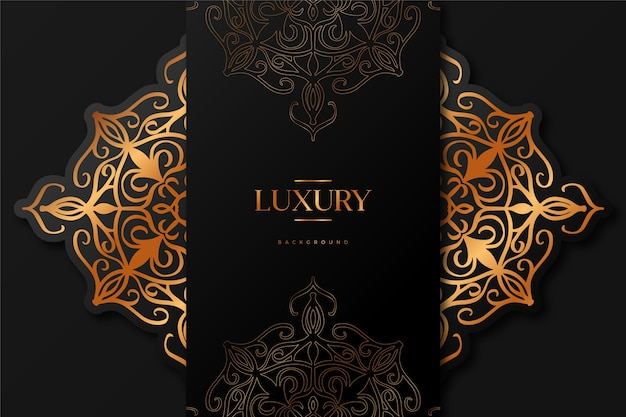 Luxury mandala background Free Vector