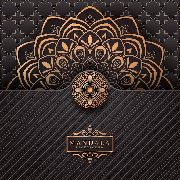 Luxury mandala decorative ethnic element background Premium Vector