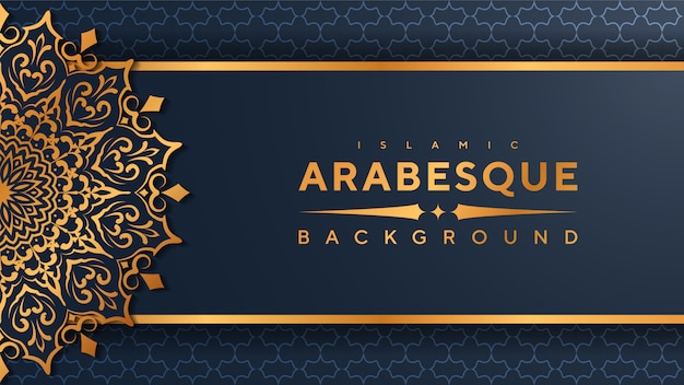 Luxury mandala islamic background Premium Vector