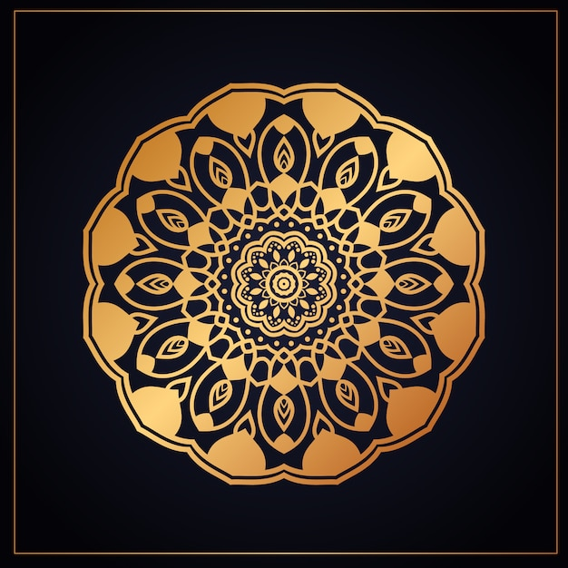 Luxury mandala pattern Premium Vector