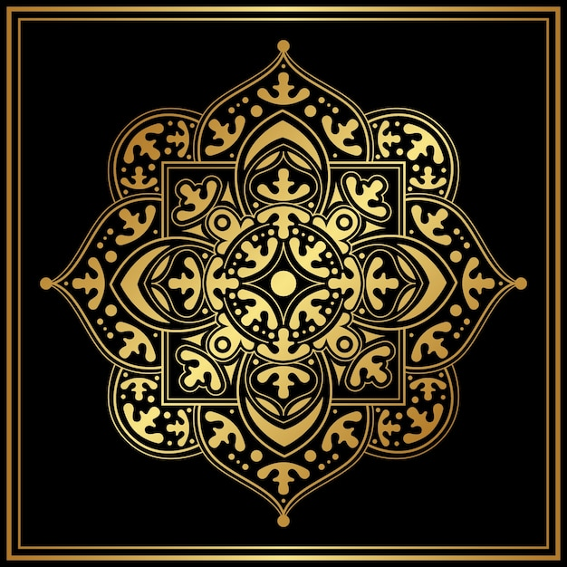 Luxury mandala screensaver Free Vector