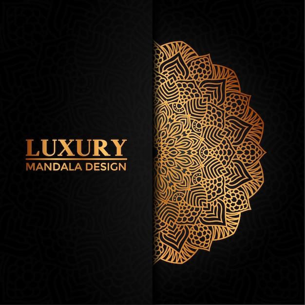 Luxury mandala vector  hand drawn circular geometric element for henna, mehndi, tattoo, decoration, textile, pattern, invitation background Premium Vector