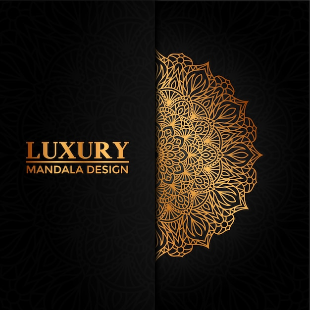 Luxury mandala vector  hand drawn circular geometric element for henna, mehndi, tattoo, decoration, textile, pattern, invitation background Premium Vector