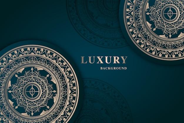 Luxury mandala wallpaper Free Vector