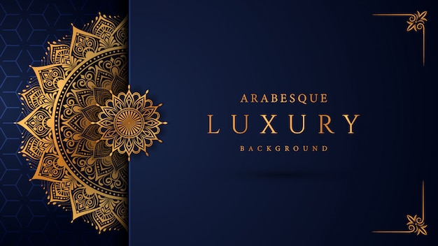 Luxury mandala  with golden arabesque  arabic islamic east style Premium Vector
