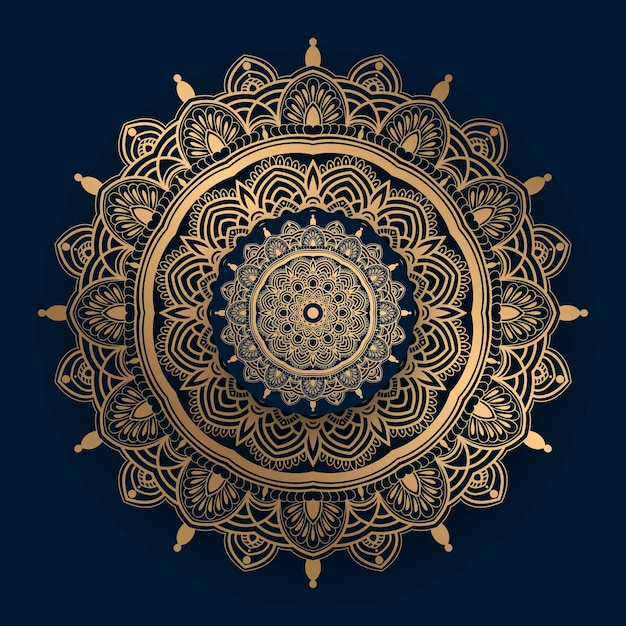 Luxury mandala  with golden islamic pattern Premium Vector