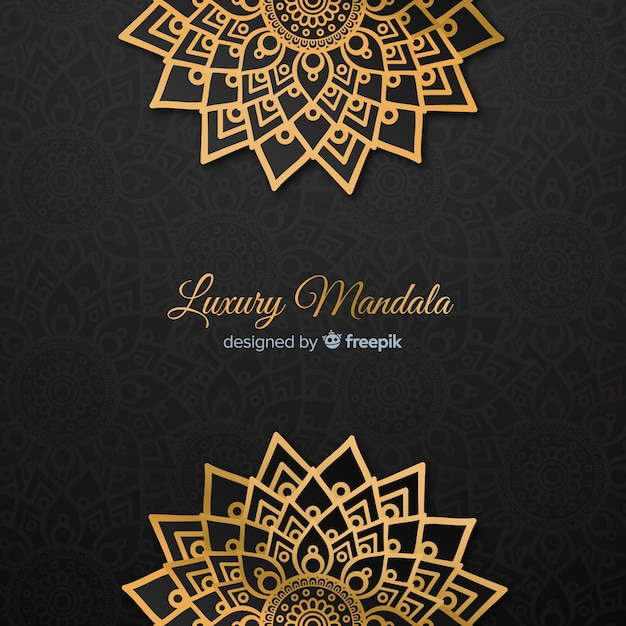 Luxury mandala Free Vector