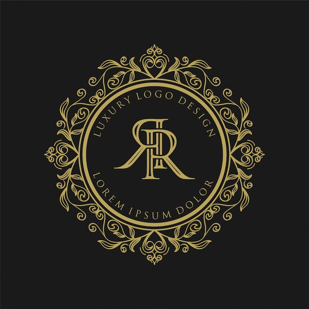 Premium Vector Luxury Monogram Gold Logo Design