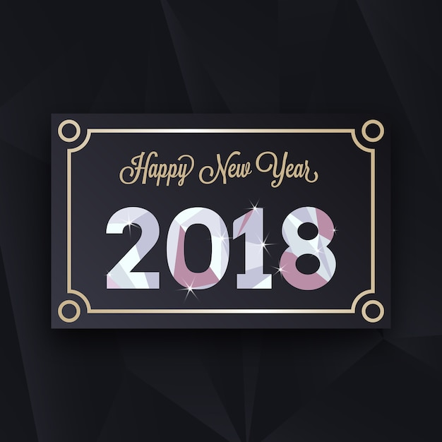 luxury new year card design premium vector