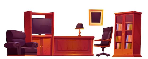 Роскошный офис в старом античном стиле Бесплатные векторы