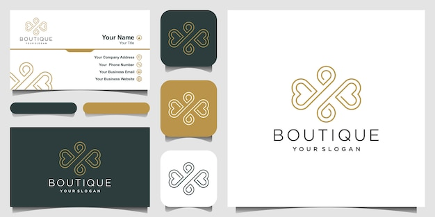 Luxury ornament   and business card Premium Vector