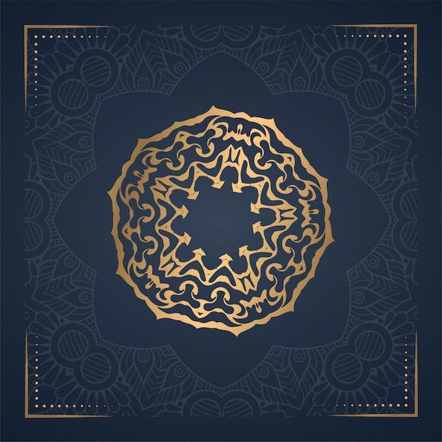 Luxury ornament mandala background Premium Vector