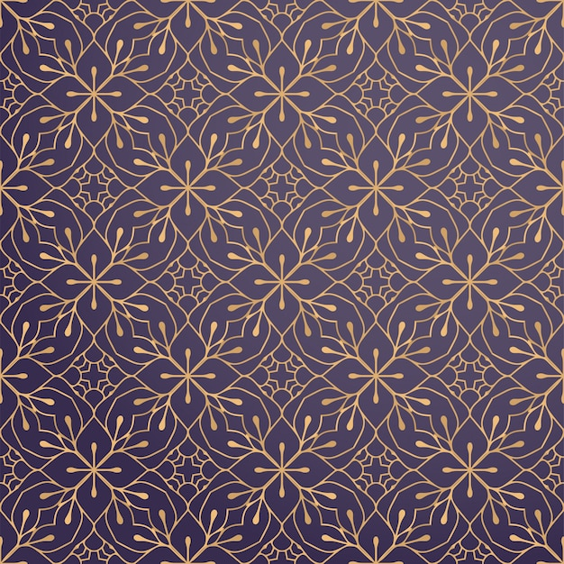 Luxury ornamental background in gold color Free Vector