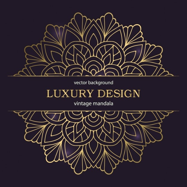 Luxury ornamental background with a mandala Free Vector