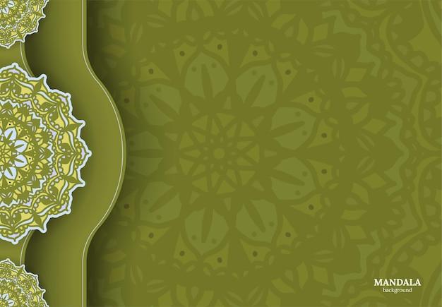Роскошный декоративный красочный дизайн мандалы фон Premium векторы