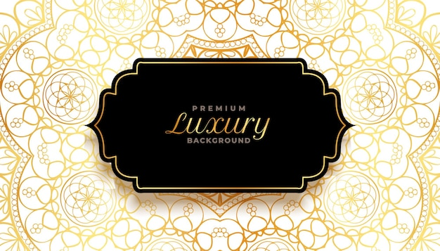 Luxury ornamental decorative background in golden color Free Vector