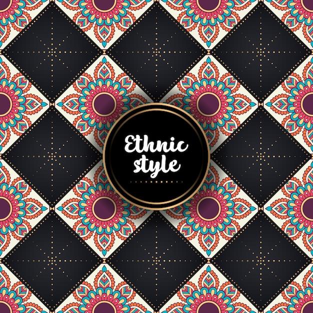 Luxury ornamental ethnic pattern Free Vector
