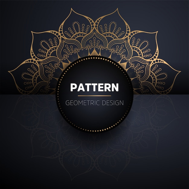 Luxury ornamental gold mandala seamless pattern Free Vector