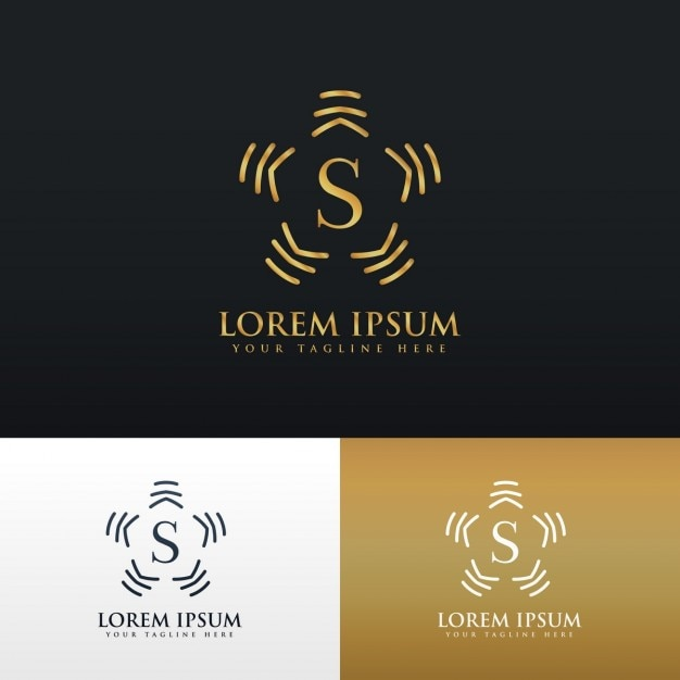 Luxury ornamental logo with the letter s