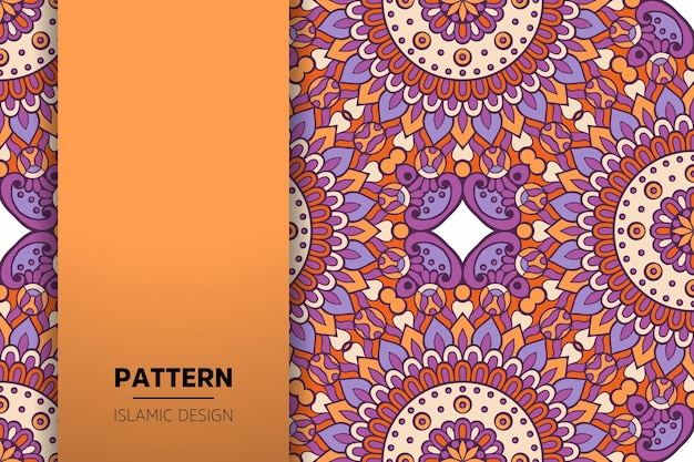 Luxury ornamental mandala  background in gold color Premium Vector