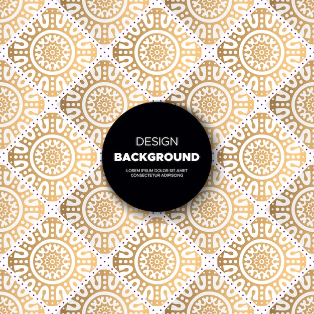 Luxury ornamental mandala  background in gold color Free Vector