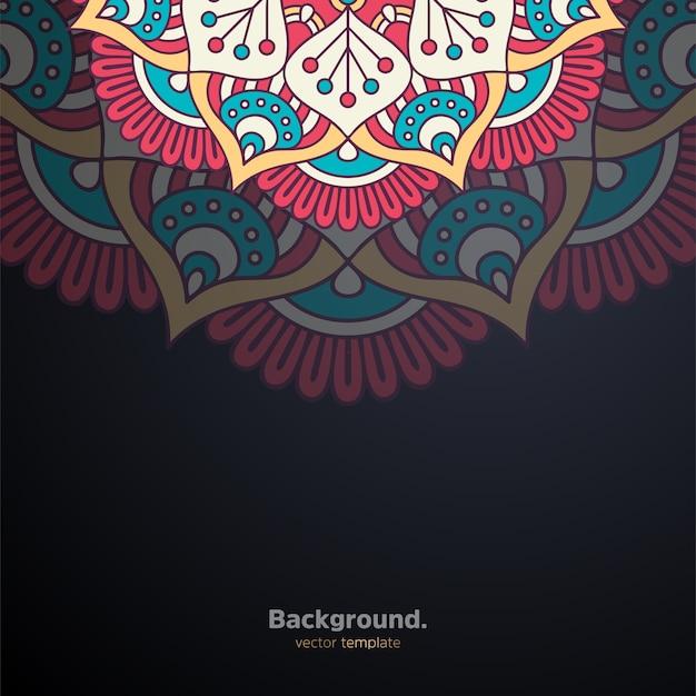 Роскошный декоративный дизайн мандалы фон красочный Бесплатные векторы