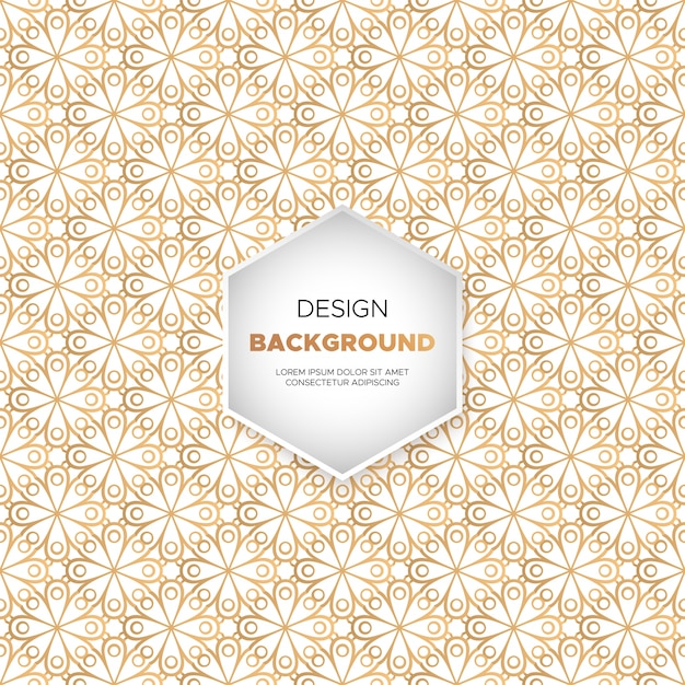 Luxury ornamental mandala design background in gold color Free Vector