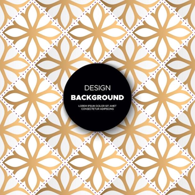 Luxury ornamental mandala design background in gold color Free Vector