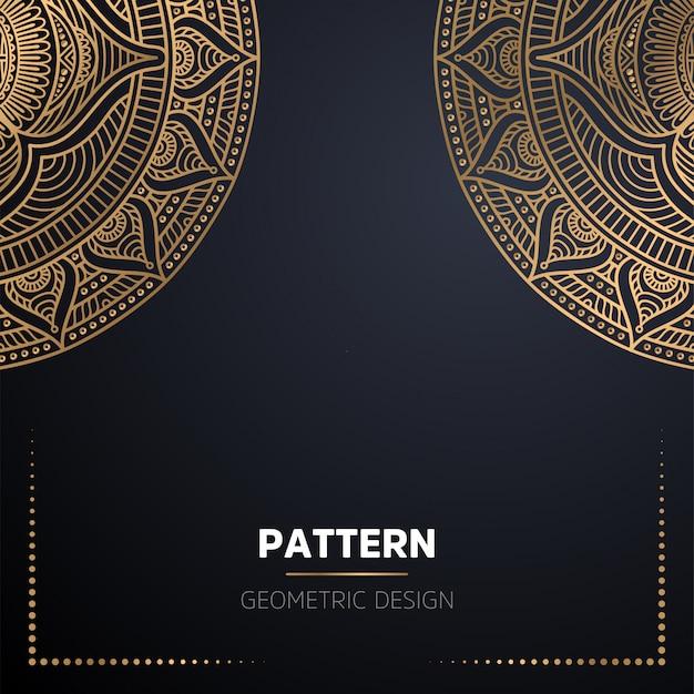 Роскошный декоративный фон мандалы в золотом цвете Бесплатные векторы